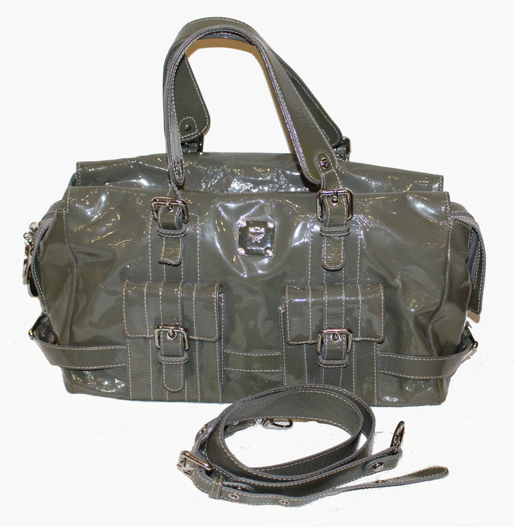 MCM Model Lion TASCHE oliv Lackleder